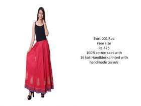 Red Cotton Skirts