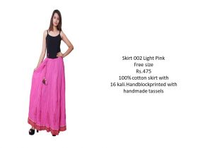 Light Pink Cotton Skirts