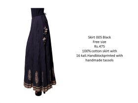 Black Cotton Skirts