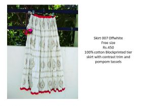 Offwhite Cotton Skirts